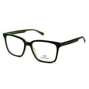 Charles Delon Square  Style Green/Black Frame